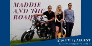 Maddie and the Roadies will perform at 4:30 at the Taste on August 24, 2019