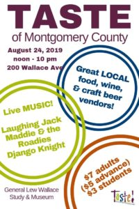 2019 TASTE of Montgomery County graphic for Pinterest