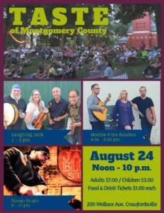 Image of the 2019 Taste of Montgomery County flyer
