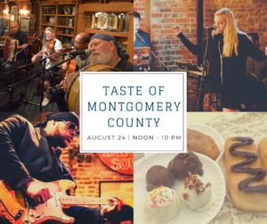 2019 TASTE of Montgomery County music graphic