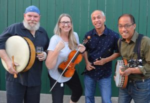 Laughing Jack band members Garry, Liz, Dmitri, and Mario will perform at the Taste of Montgomery County 2019